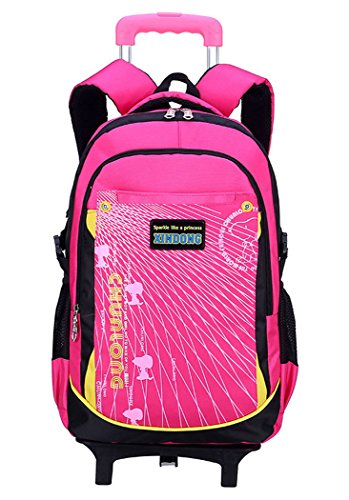 Coofit-Rolling-Backpack-for-Girls-Kids-Backpack-with-6-Wheels