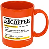 Funny Guy Mugs Prescription Ceramic Coffee Mug, Orange, 11-Ounce