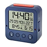 "Radio controlled alarm clock ""BINGO"" with temperature 60.2528.06 blue"