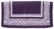 Tough 1 Tough-1 4 lb Wool Saddle Blanket Barbwire Design, Darkpurple/Lightpurple/White