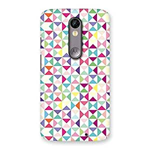 Special Trangel Color Print Back Case Cover for Moto X Force