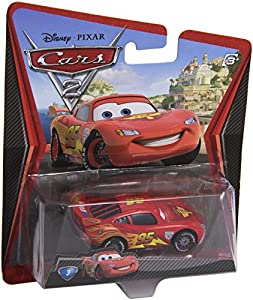 Disney Cars 2 V2797 Lightning McQueen with Racing Wheels Véhicule Miniagture Cars2 - Nr 03