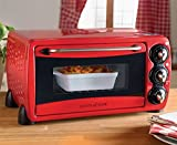 Scotts of Stow Mini Compact Oven 14 Litre Adjustable Dishwasher Safe Red