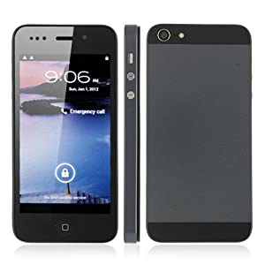 Hero H2000+ MTK6577 Dual Core Smart Phone Android 4.0 3G GPS 4.0 Inch Black