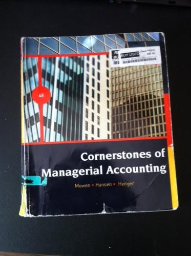 cornerstones of managerial accounting 6th edition pdf
