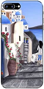The Racoon Grip Santorini,Greece hard plastic printed back case/cover for Apple Iphone 7 Plus