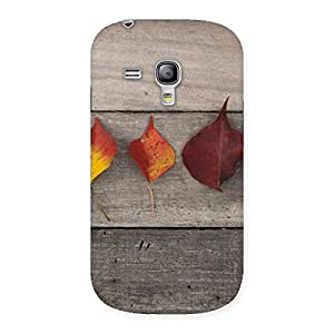 Leaves on Wood Back Case Cover for Galaxy S3 Mini