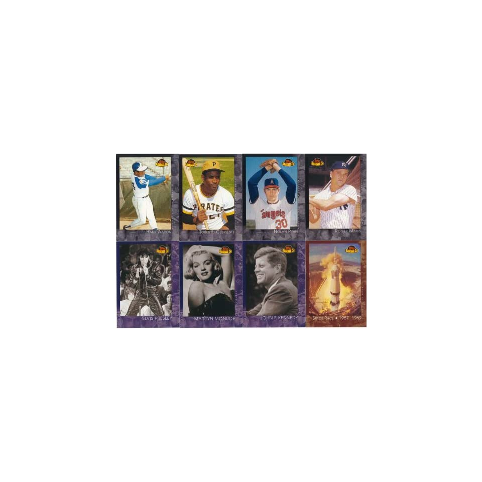2001 Topps American Pie Series 150 Card Complete Mint Set. Loaded with Baseballs Greatest Stars Including Hank Aaron, Roberto Clemente, Roger Maris, Nolan Ryan, Bob Gibson, Dave Winfield, Eddie Mathews, George Brett, Jim Palmer, Johnny Bench and Many Othe