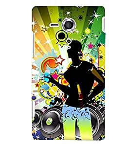 printtech D J music Back Case Cover for Sony Xperia SP::Sony Xperia SP M35h