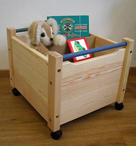Kleiderständer Holz Auf Rollen ~ Holz Spielzeugkiste auf Rollen, Massivholz mit Bio Oberfläche