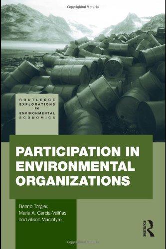 Participation in Environmental Organizations (Routledge Explorations in Environmental Economics)