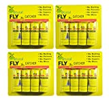 HouseGuard Fly Paper Strips,Fly Trap, Fly Catcher Trap, Fly Ribbon, Fly Bait, Super Value -Set of 16 Pack