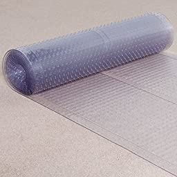 ES Robbins Ribbed Runner, 27-Inch by 10-Feet, Clear
