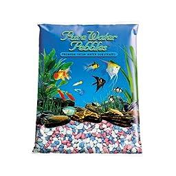 Pure Water Pebbles Aquarium Gravel, 25-Pound, Pastel Rainbow Frost