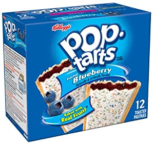 Pop-Tarts, Frosted Blueberry, 12-Count Tarts (Pack of 12)