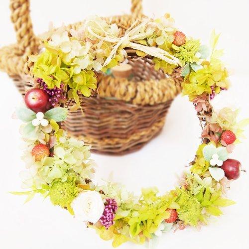 プリザーブドフラワー簡単手づくりリースキット サブリナ 開店お祝いや新築お祝い 結婚お祝いにも!