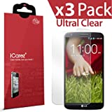 iCarez® [HD Clear] Highest Quality Premium Screen Protector [ Unique Hinge Install Method With Kits ] For LG G2 Highest Quality Premium High Definition Ultra Clear Anti Bacterial Bubble free Reduce Fingerprint **PET Film Made in Japan** Easy Install With Lifetime Replacement Warranty [3-Pack] - Retail Packaging 2014