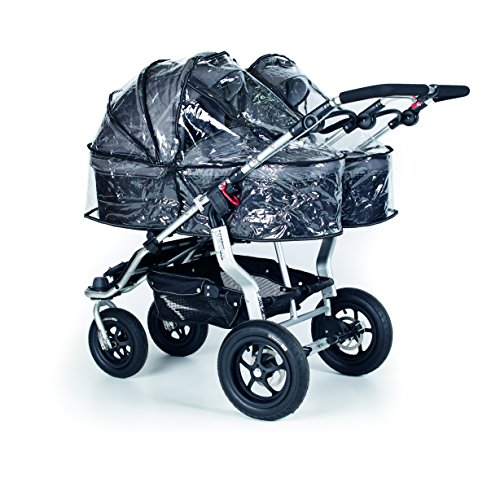 Rain Cover for Single Twinner Carrycot, Transparent - 1