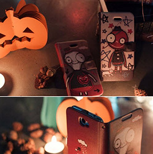 [Happymori] Little Ghost Diary Wallet Type Flip Case Cover Leather Design Phone Carrying Case for Samsung Galaxy S3 3g (Tomato) sale 2015