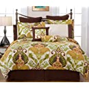 Pointehaven Hannah 12 Piece 100 Percent Cotton Luxury California King Bedding Ensemble