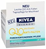 Genuine German Nivea Visage Q10 Plus Creatine Anti Wrinkle Light Day Cream for combination to oily skin Better Formula 1.7oz. / 50ml - Made in Germany NOT Thailand