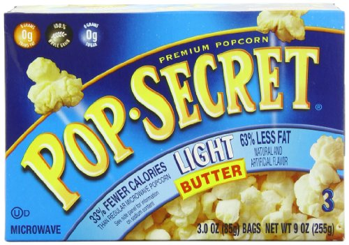 Pop Secret Light Butter Flavor, Microwavable Popcorn, 3-count, 9 Ounce Box (Pack of 6) (Light Butter Popcorn compare prices)