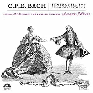C.P.E. バッハ作品集 [Import] (SYMPHONIES NOS 1-4 CELLO CONCERTO)