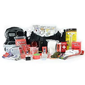 Earthquake Emergency Bug Out Bag - Deluxe 2 Person Go Pack - Disaster Survival Kit -... by Legacy Premium Food Storage