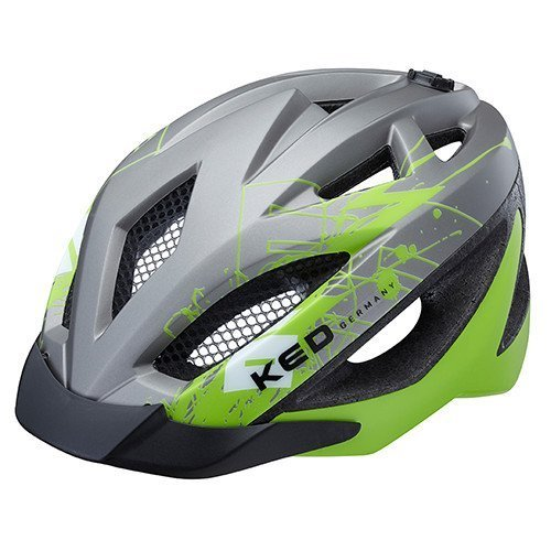 ked-gekko-casco-bicicleta-gris-verde-mate-s-49-56-cm