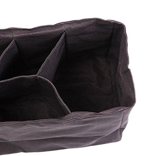 Diaper Bag Insert Organizer – 12 x 6.4 x 8 inch, Black