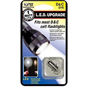 Nite Ize LRB-07-PR1W 1-Watt LED Bulb Upgrade/Replacement for Most C/D-Battery Flashlights