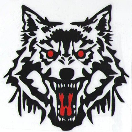 5 Pieces Car Laptop Decal Sticker Wolf Black 15.5''*15.5'' (Black Monster Energy Stickers compare prices)