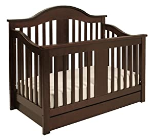Million Dollar Baby Classic Cameron 4-in-1 Convertible Crib, Espresso (Discontinued by Manufacturer)