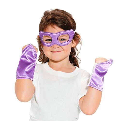 Purple Superhero Eye Mask and Powerbands - Kids