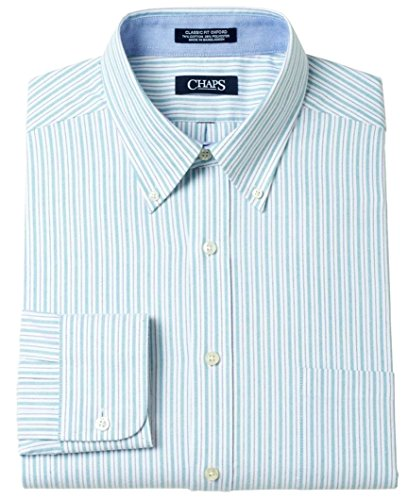 Chaps men 39 s classic fit button down oxford dress shirt for Chaps mens dress shirts