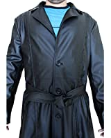 Leather Icon New Wesley Snipes Blade Trench Coat Jacket