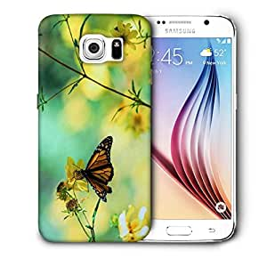 Snoogg Chetah Butterfly Printed Protective Phone Back Case Cover For Samsung Galaxy S6 / S IIIIII
