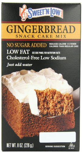 Sweet'n Low Cake Mix, Gingerbread, 8 Ounce
