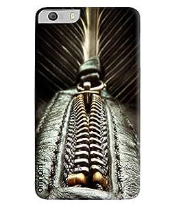 Omnam Zip Of Black Color Printed Designer Back Cover Case For Micromax Knight 2 E471