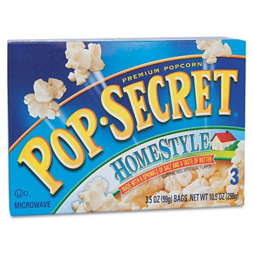 Pop Secret Homestyle 3 Pk Microwave Popcorn 10.5 Oz (Pack Of 12)