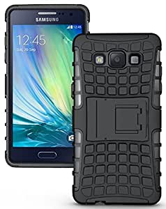 Jma Kick Stand Spider Hard Dual Rugged Hybrid Bumper Back Case Cover For Samsung Galaxy A5 SM-A500 - Black