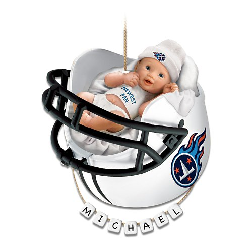 Tennessee Titans Personalized Baby's First Christmas Ornament by The Bradford Exchange at Amazon.com