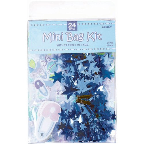 Blue Mini Favor Bag Kit 24ct