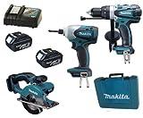 Makita 18V LXT Li Ion LXT202 Kit BHP458, BTD140 & BCS550 BCS550Z BCS550Rfe Circular Saw