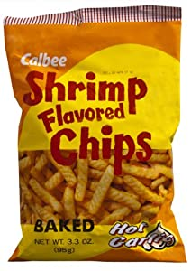 Calbee Shrimp Chips Hot Garlic 33-ounce Packages Pack Of 12 from Calbee