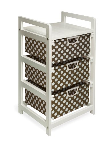 Buy Badger Basket Lightweight Three Drawer Hamper/Storage Unit, Brown Dot