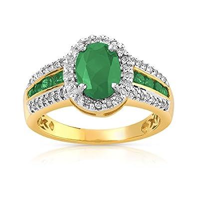 2 ct Jaune Citrine Diamant Halo Bague femmes Bijoux Cadeau solide argent 925 Taille 6