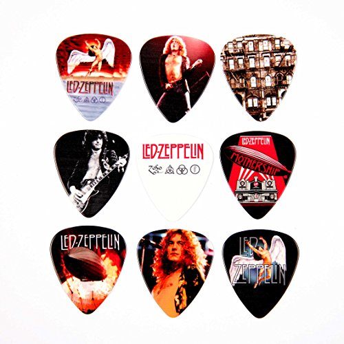 Led Zeppelin Chitarra Picks Set di 9 Plettri