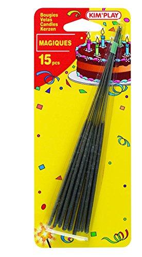 WDK Partner - COU631 - Décoration de gâteau - 15 cierges magiques