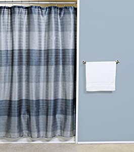 Ombre Jewel Shower Curtain Blue Silver Blue And Silver Shower